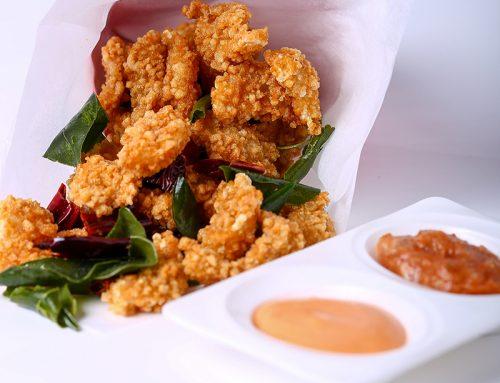 Food popcorn-shrimps